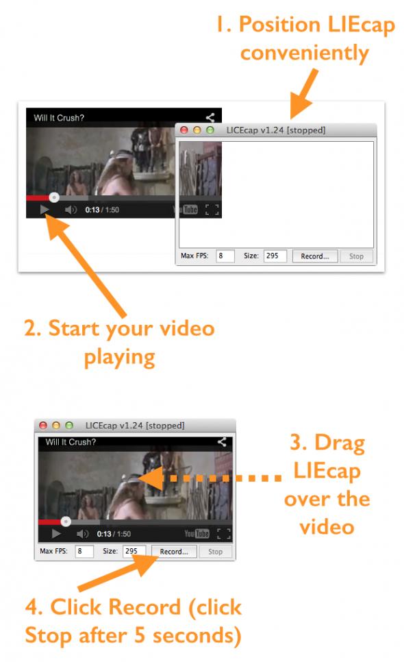 create animated GIF LIEcap