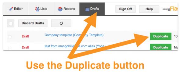 duplicate button