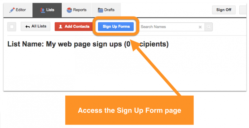 web form page