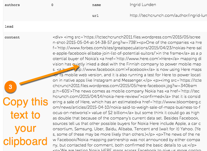 paste blog content into email