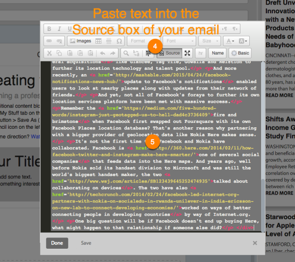 paste blog content email flashissue